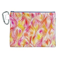 Pretty Painted Pattern Pastel Canvas Cosmetic Bag (xxl)