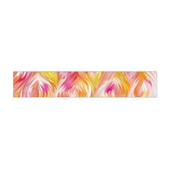 Pretty Painted Pattern Pastel Flano Scarf (mini)