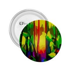 Abstract Vibrant Colour Botany 2.25  Buttons
