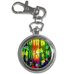 Abstract Vibrant Colour Botany Key Chain Watches