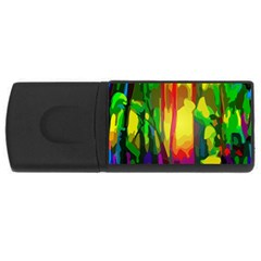 Abstract Vibrant Colour Botany USB Flash Drive Rectangular (2 GB)