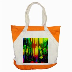 Abstract Vibrant Colour Botany Accent Tote Bag