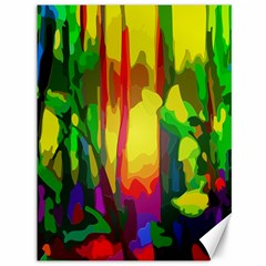 Abstract Vibrant Colour Botany Canvas 36  X 48