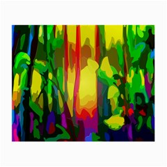 Abstract Vibrant Colour Botany Small Glasses Cloth (2 Side)