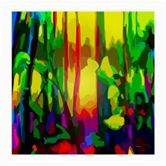 Abstract Vibrant Colour Botany Medium Glasses Cloth (2-Side)