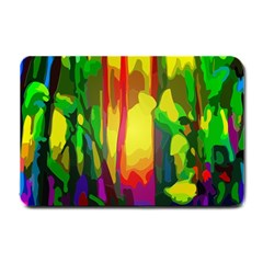 Abstract Vibrant Colour Botany Small Doormat