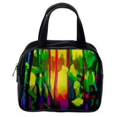 Abstract Vibrant Colour Botany Classic Handbags (one Side)