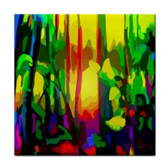 Abstract Vibrant Colour Botany Face Towel