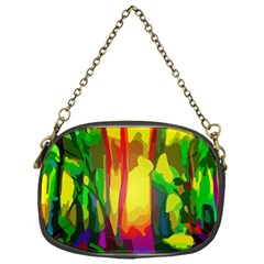 Abstract Vibrant Colour Botany Chain Purses (one Side)