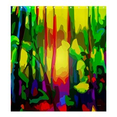 Abstract Vibrant Colour Botany Shower Curtain 66  X 72  (large)