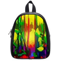 Abstract Vibrant Colour Botany School Bags (Small)