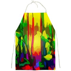 Abstract Vibrant Colour Botany Full Print Aprons