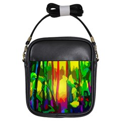 Abstract Vibrant Colour Botany Girls Sling Bags