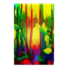 Abstract Vibrant Colour Botany Shower Curtain 48  X 72  (small)
