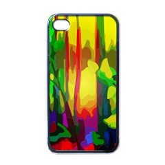 Abstract Vibrant Colour Botany Apple Iphone 4 Case (black)