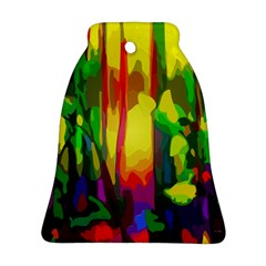 Abstract Vibrant Colour Botany Bell Ornament (Two Sides)