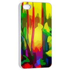 Abstract Vibrant Colour Botany Apple Iphone 4/4s Seamless Case (white)