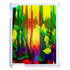 Abstract Vibrant Colour Botany Apple iPad 2 Case (White)