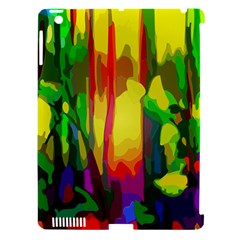 Abstract Vibrant Colour Botany Apple Ipad 3/4 Hardshell Case (compatible With Smart Cover)