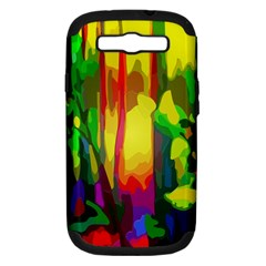 Abstract Vibrant Colour Botany Samsung Galaxy S Iii Hardshell Case (pc+silicone)