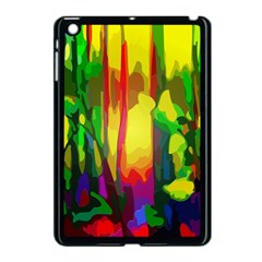 Abstract Vibrant Colour Botany Apple iPad Mini Case (Black)