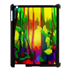 Abstract Vibrant Colour Botany Apple Ipad 3/4 Case (black)