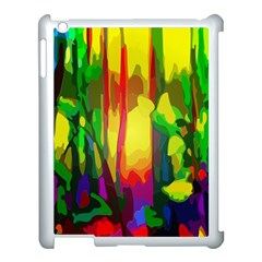 Abstract Vibrant Colour Botany Apple Ipad 3/4 Case (white)