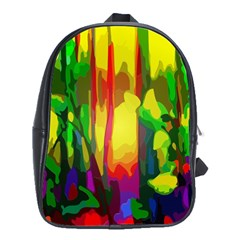 Abstract Vibrant Colour Botany School Bags (xl)