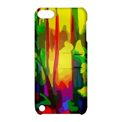 Abstract Vibrant Colour Botany Apple Ipod Touch 5 Hardshell Case With Stand