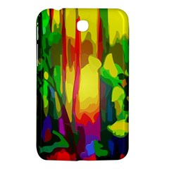 Abstract Vibrant Colour Botany Samsung Galaxy Tab 3 (7 ) P3200 Hardshell Case