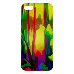 Abstract Vibrant Colour Botany Iphone 5s/ Se Premium Hardshell Case
