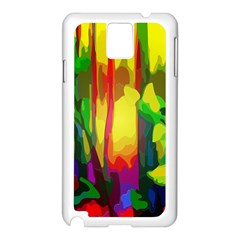Abstract Vibrant Colour Botany Samsung Galaxy Note 3 N9005 Case (white)
