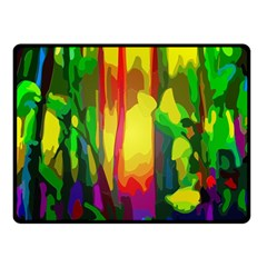 Abstract Vibrant Colour Botany Double Sided Fleece Blanket (small)