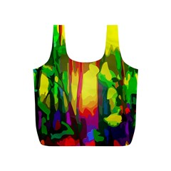 Abstract Vibrant Colour Botany Full Print Recycle Bags (S)