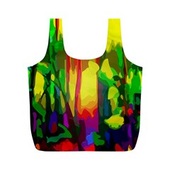 Abstract Vibrant Colour Botany Full Print Recycle Bags (m)