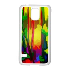 Abstract Vibrant Colour Botany Samsung Galaxy S5 Case (white)