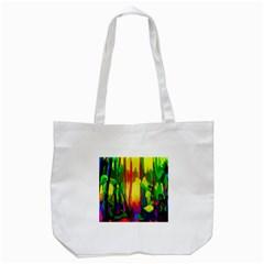 Abstract Vibrant Colour Botany Tote Bag (white)