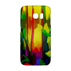 Abstract Vibrant Colour Botany Galaxy S6 Edge