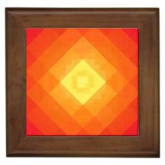 Pattern Retired Background Orange Framed Tiles