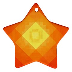 Pattern Retired Background Orange Ornament (Star)