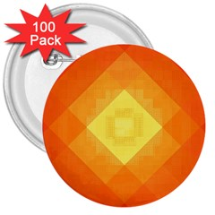 Pattern Retired Background Orange 3  Buttons (100 Pack)