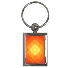 Pattern Retired Background Orange Key Chains (Rectangle)