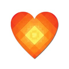 Pattern Retired Background Orange Heart Magnet