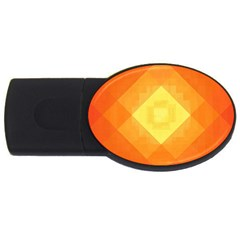 Pattern Retired Background Orange USB Flash Drive Oval (2 GB)
