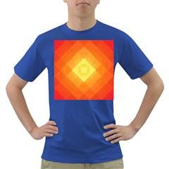 Pattern Retired Background Orange Dark T Shirt