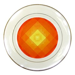 Pattern Retired Background Orange Porcelain Plates
