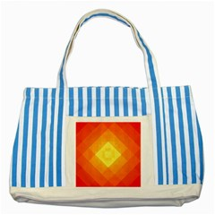 Pattern Retired Background Orange Striped Blue Tote Bag