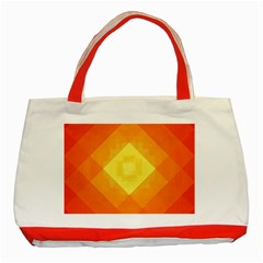 Pattern Retired Background Orange Classic Tote Bag (red)