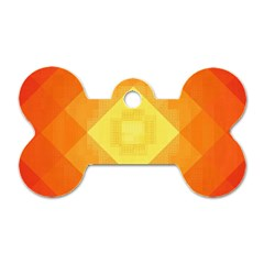 Pattern Retired Background Orange Dog Tag Bone (two Sides)