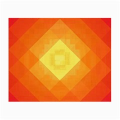 Pattern Retired Background Orange Small Glasses Cloth (2 Side)